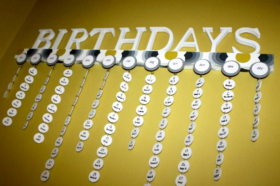 Diy Birthday Calendar Ideas : Pinterest put into practice a diy birthday calendar